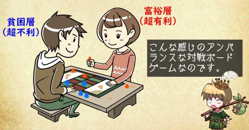 富裕層と貧困層のボードゲーム